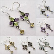 925 Silver Earrings MULTISTONES, TOPAZ & Many Gemstones Variation To Choose