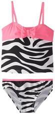 Osh Kosh Girls Zebra Print Tankini Swimsuit Size 4 5 6