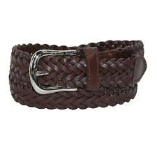 New CTM Boys' Leather 3/4 Inch Adjustable Braided Dress Belt