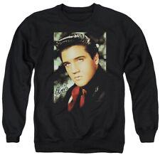 Elvis Presley The King Rock Red Scarf Adult Crewneck Sweatshirt