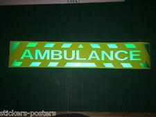 Reflectante Hi Viz Ambulancia calcomanía / señal magnética cheurones Primeros Auxilios