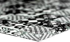 Mosaikfliese Quadrat Crystal Glasmosaik Optik mix schwarz weiß - Art: 88-8OP5