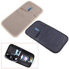 Car Sun Visor PU Leather Sunshade CD Disc Storage Bag Glasses Holder Case SALE