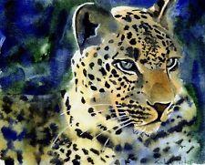 Giclee Print Jungle Leopard Safari Painting Art Africa Cat Nursery Decor Wall