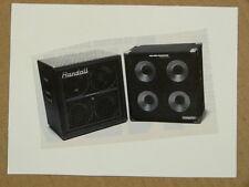 g/ handmade greetings card w music theme RANDALL & HARTKE BASS CABS