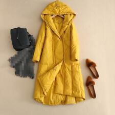 Women Puffer Down Casual Coat Hooded Winter Warm Mid Long Outwear Loose Overcoat