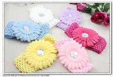 Elastic Baby Girl/Adult Headbands children 7cm Wide Hairband and flower New Gift