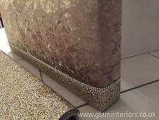 Prestigious Crushed Velvet Boxed Pelmet Window With Gold Glitter Trim