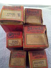 Brimar 15D2, 43, 6U4GT, 35A5, 35Z3, 6V6G. VALVE/TUBE. new old stock.