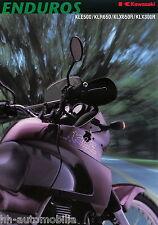Kawasaki Enduro Prospekt 9/98 KLE 500 KLR 650 KLX 650 R 300 R Motorrad 1998 Asia