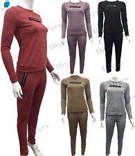 Haut femme melange lounge wear Sweat Survêtement Ensemble zip survêtement pantalon lot 8-14