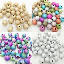 Metálico REDONDA Y BRILLANTE Stardust Cuentas Plástico Acrílico jewellry para que las embarcaciones