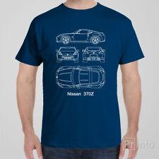 T-shirt Nissan 370Z blueprint JDM Japan drift shirt, Funny automotive car Tee
