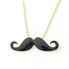 Movember Mustache Necklace Black Handlebar Moustache November Cancer Awareness