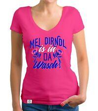 Damen T-Shirt V-Ausschnitt - Mei Dirndl is in da Wäsch - Wiesn Maß Trachtenshirt