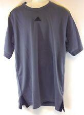 NEW Youth Kids Boys ADIDAS Grey Yellow O20236 Synthetic Short Sleeve Tee Shirt