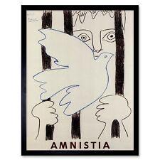 ADVERT CHARITY AMNESTY INTERNATIONAL SPAIN BLACK FRAMED ART PRINT B12X4344