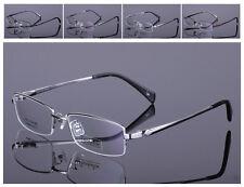 100% Pure Titanium Half-Rimless Eyeglass Frame Glasses Spectacles Eyewear Optic