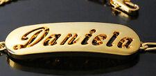 18k Plateó la Pulsera de Oro Con el Nombre - DANIELA - Regalos Para Mujeres