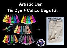 Tie Dye Set Plus Calico Bags Shoulder  Calico Bag Tie Dye Kit