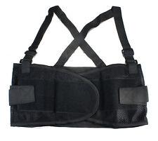 New Heavy Weight Lift Lumbar Lower Back Waist Support Belt Brace Suspenders Work