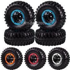 "4P Rock Crawler Car 2.2"" Tires Beadlock Wheel Rim For Rc 1:10 Scx10 D90 Cc01 Hsp"
