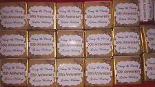 Personalised Anniversary Chocolates - Silver / Golden  Wedding Anniversary