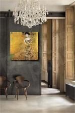 Gustav Klimt Portrait of Adele Bloch-Bauer I Repro Art Canvas Poster Print
