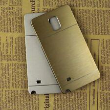 Premium Brushed Metal Aluminum Hard Case Samsung Galaxy Note 3 4 5  + Glass