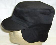 ARMY RANGER CAP BLACK WITH HIDDEN EAR FLAP Size XL 7 3/4