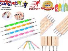 5 x 2 way Dotting Pen Marbleizing Tool Nail Art Dot Paint Shop Accessory