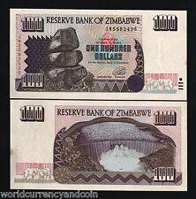 ZIMBABWE 100 DOLLARS P9 1995 TWIN ELEPHANT DAM UNC ANIMAL WILDLIFE CURRENCY NOTE