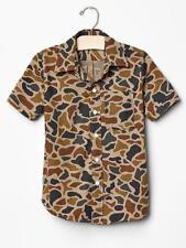 Gap Kids NWT Camo Camouflage Hunting Short Sleeve Shirt XL 12 XXL 14 16  $25
