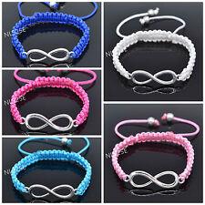 New Arrival CHILDREN Multi Coloured Nylon Cord INFINITY Adjustable Bracelet