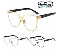 Occhiali Neutri/da Vista iFrames Metallo a Gatto Vintage Donna Grandi OverSize