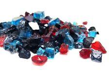 Black Red Blue Blend Reflective Fireglass - Fireplace & Fire Pit Glass Crystals