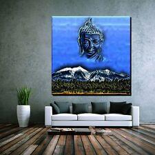 LEINWAND BILD XXL POP ART BUDDHA CHINA NEPAL ZEN BERG RELIGION THAILAND 120x120