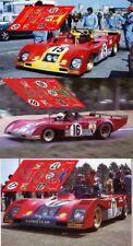 Calcas Ferrari 312PB Le Mans 1973 15 16 17 1:32 1:24 1:43 1:18 312 PB decals