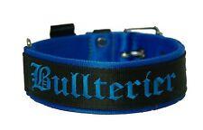Correa de nylon Bull Terrier Miniatura Bull Terrier Collar negro / azul