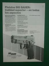 7/1987 PUB SIG SAUER PISTOLET PISTOLAS P 225 P 226 GUN RIFLE ORIGINAL SPANISH AD