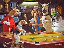 Una pierna en el suelo piscina perros Arthur Sarnoff Lona Impresión de Arte Cartel Sala De Juegos