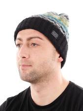 Barts Beanie Bonnet d'hiver tricoté noir doublure polaire motif chaud