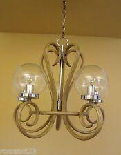 Vintage Lighting 1970s Mod bentwood style chandelier   Remarkable