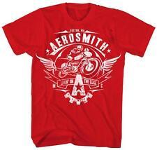 Oficial Aerosmith-vivir en el borde-Rojo Camiseta Para Hombre Importado De Estados Unidos