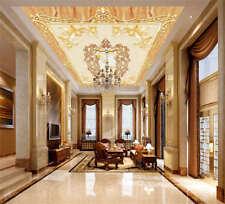 Graceful Rich Lamp 3D Ceiling Mural Full Wall Photo Wallpaper Print Home Decor