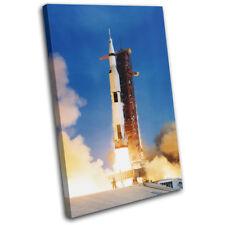 NASA Apollo Moon Space Transportation SINGLE CANVAS WALL ART Picture Print