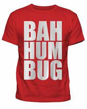 Para Hombre Bah zumbido Bug Scrooge Navidad Carol Navidad Navidad Camiseta Camiseta Nuevo S-XXL