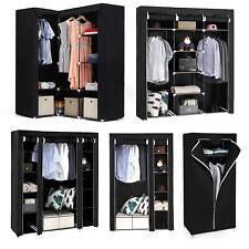 Songmics Canvas Clothes Wardrobe Cupboard Shelves Garment Storage Shelf Bedroom