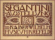 Segantini Ausstellung 1904 German Jugendstil Art Nouveau Vintage Poster Print .