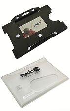 Customised Personalised Plastic ID Card Holders, Printed Badge Holders